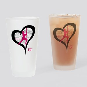 LM Dancer Heart Drinking Glass