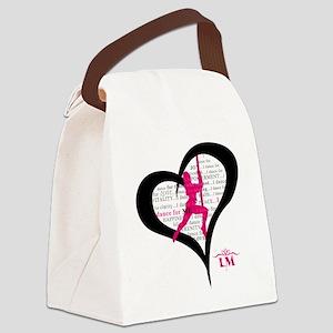 LM Dancer Heart Canvas Lunch Bag