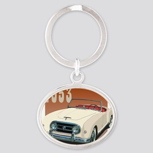 1953 In Cream Oval Keychain