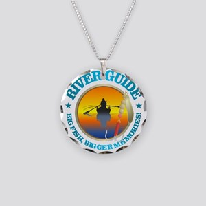 River Guide Necklace Circle Charm