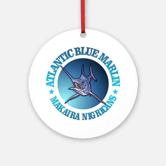 Blue Marlin Round Ornament