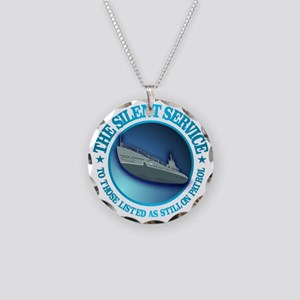 Silent Service Necklace Circle Charm