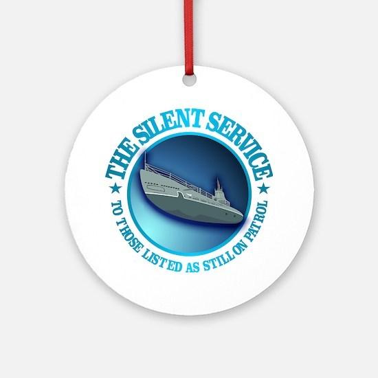 Silent Service Round Ornament