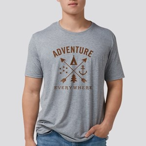 ADVENTURE EVERYWHERE Mens Tri-blend T-Shirt