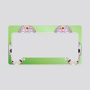 Comitragic DODT Skulls License Plate Holder