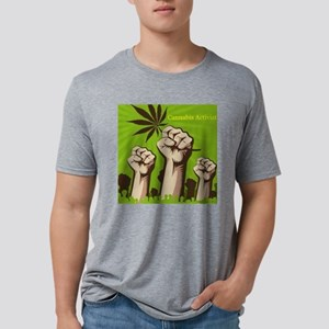 Cannabis Activist Mens Tri-blend T-Shirt