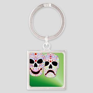 Comitragic DODT Skulls Square Keychain