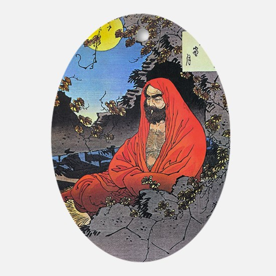 Bodhidharma Oval Ornament