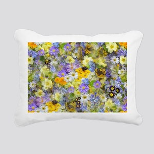 Purple and Yellow Spring Rectangular Canvas Pillow