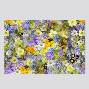 Purple and Yellow Spring  Postcards (Package of 8)