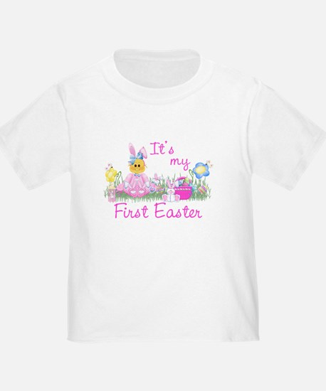 1st Easter Baby! Pink First Easter T