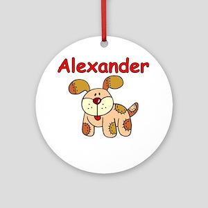 Alexander Puppy Ornament (Round)
