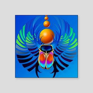 """Scarab-The Divine Square Sticker 3"""" x 3"""""""