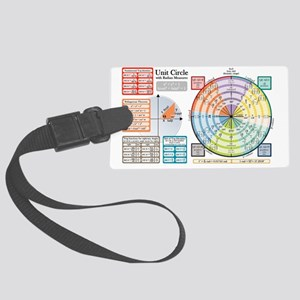 Unit Circle with Radians Large Luggage Tag