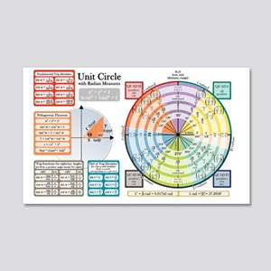 Unit Circle with Radians 20x12 Wall Decal