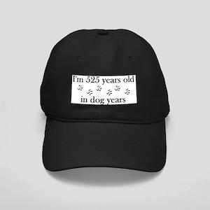 75 birthday dog years 4-2 Black Cap