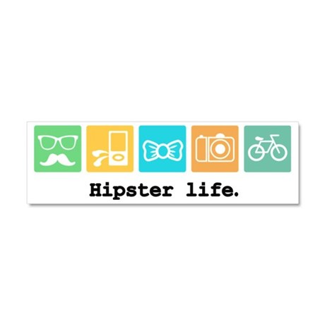 Funny Hipster Car Magnet 10 x 3