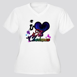 I love The Chairm Women's Plus Size V-Neck T-Shirt
