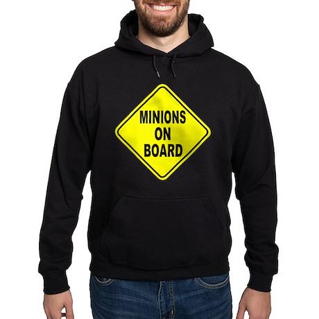 Minions on Board Car Sign Hoodie (dark)