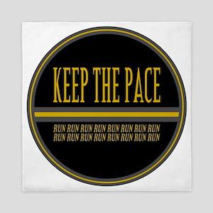 Keep the Pace Run Queen Duvet