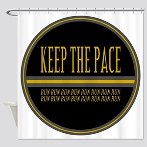 Keep the Pace Run Shower Curtain