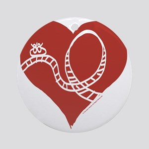 Love - Roller Coasters Round Ornament