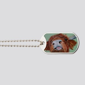Harley Highland Cow Dog Tags