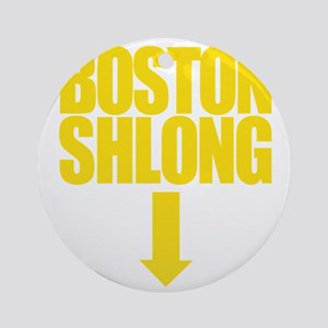 BOSTON SHLONG Logo Round Ornament