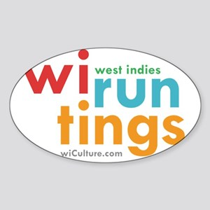 wi run tings Sticker (Oval)