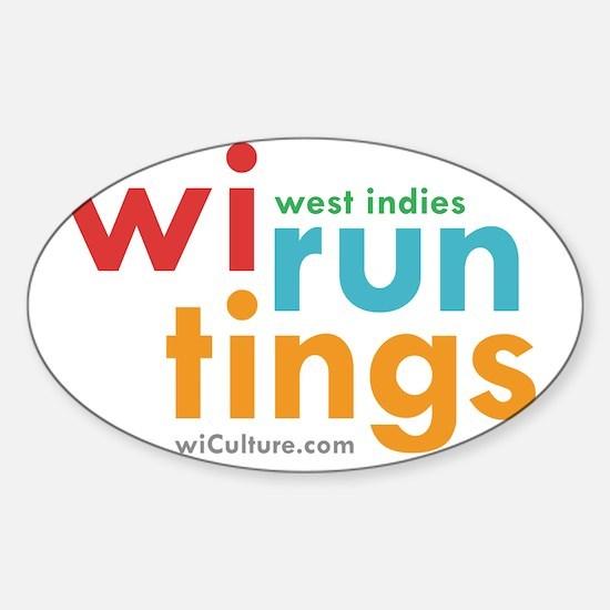 wi run tings Sticker (Oval)