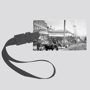 French Market in New Orleans Large Luggage Tag