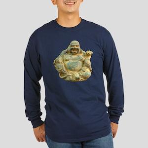 Laughing Buddha Long Sleeve Dark T-Shirt