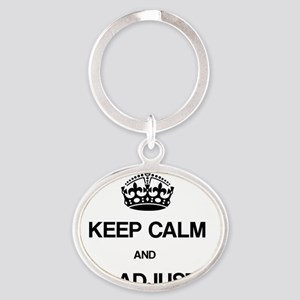 Keep Calm Chiro Oval Keychain