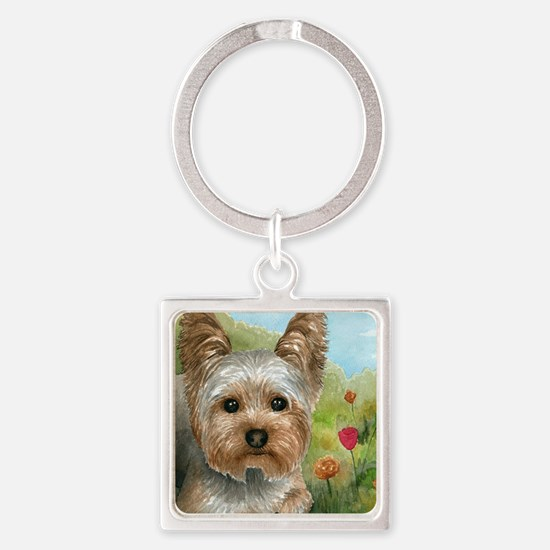 Dog 117 Square Keychain