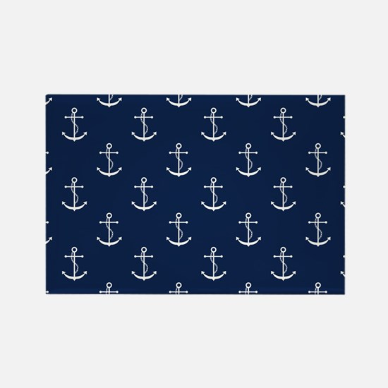 Anchors Rectangle Magnet