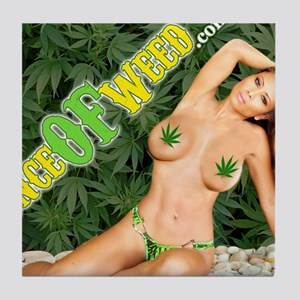 Ounce Of Weed Tile Coaster