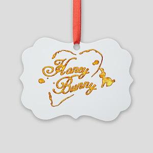 Honey Bunny Picture Ornament