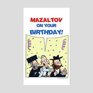 Jewy Louis Mazaltov card Sticker (Rectangle)