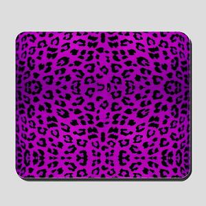 Purple Cheetah Animal Print Mousepad