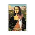 Mona Lisa - Basenji Rectangle Magnet