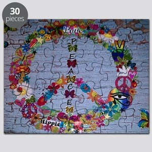 Girly Peace Sign Puzzle