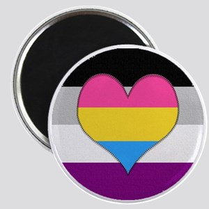 Panromantic Asexual Heart Magnet