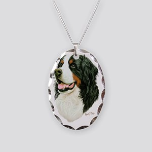 Bernese Mountain Dog Necklace Oval Charm