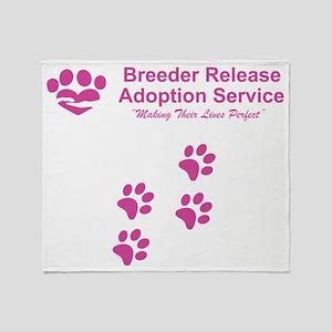Breeder Release Adoption Service Log Throw Blanket