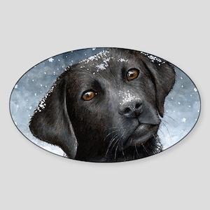 Dog 100 Sticker (Oval)