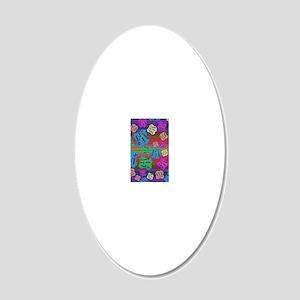 create Reality 20x12 Oval Wall Decal