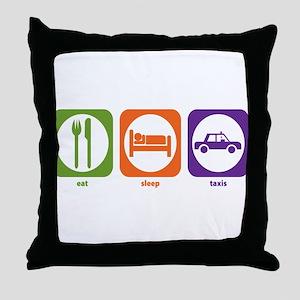 Eat Sleep Taxis Throw Pillow