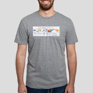 A good heart Mens Tri-blend T-Shirt