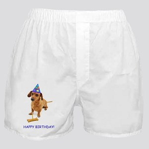 Dachshund Birthday Card Boxer Shorts