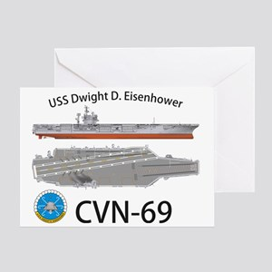 CVN-69 USS Dwight D Eisenhower Greeting Card
